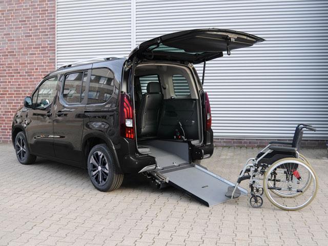 Peugeot rifter trasporto disabili