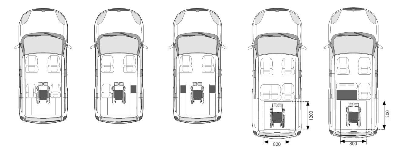 Opel combo disabili posti carrozzina