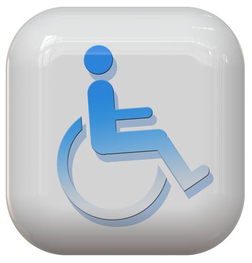 Icona disabile in carrozzina