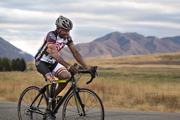 Yeboah disabilità e bicicletta