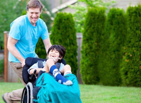 Accudire un bambino disabile