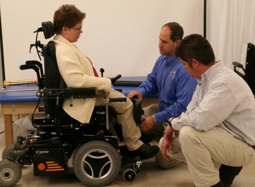 Regolare la sedia rotelle