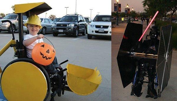 Halloween in carrozzina